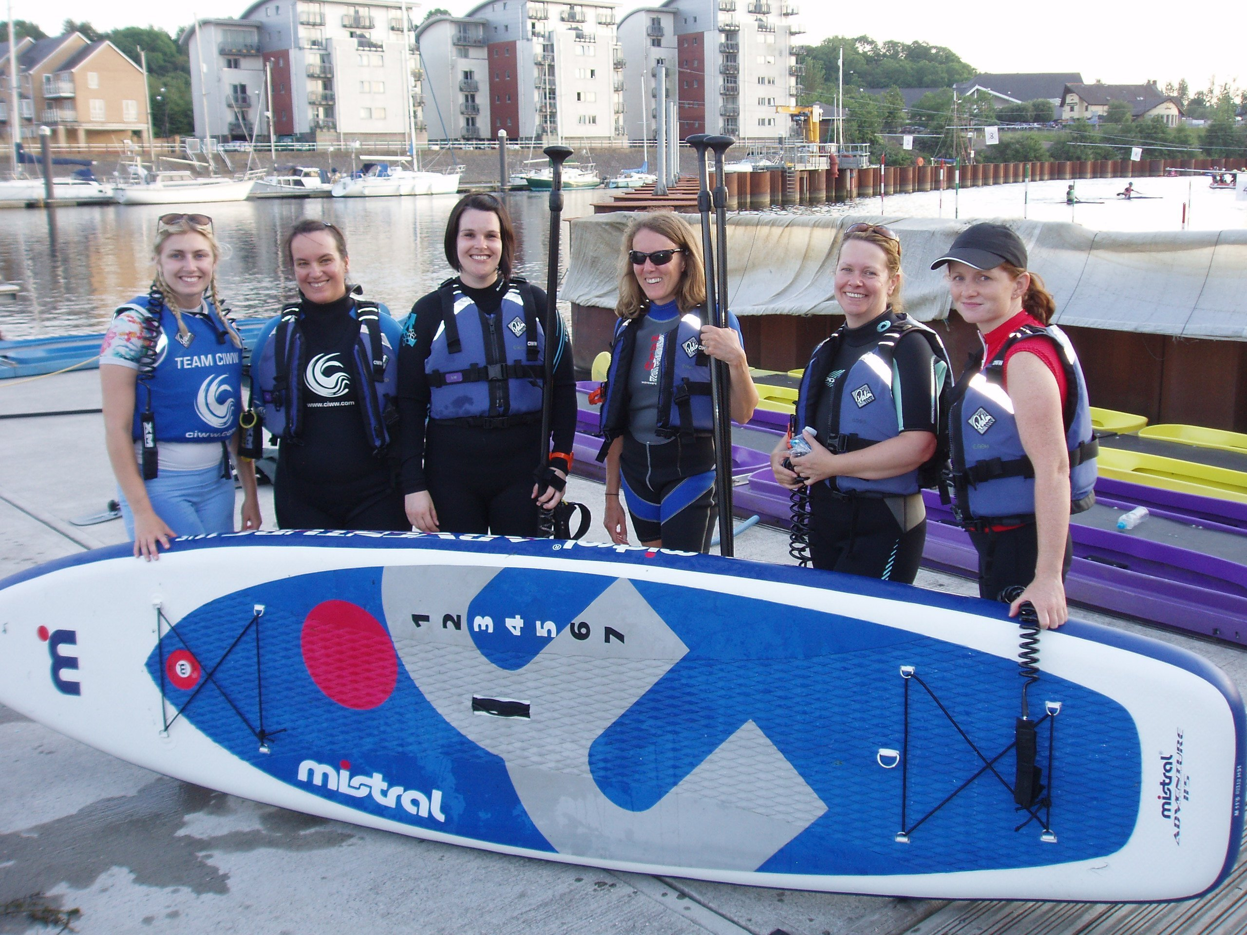 Womens' Only SUP at CIWW Cardiff Wales