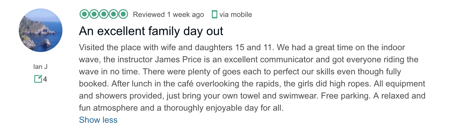 CIWW TripAdvisor review summer 2018